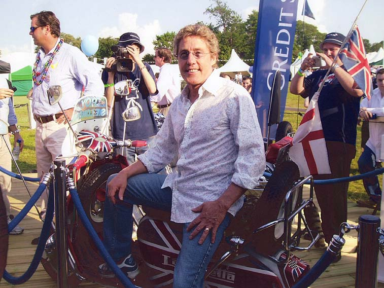 Roger Daltrey's teenage cancer trust charity at Knebworth - Featuring The Quadrophenia Union Jack Scooter.